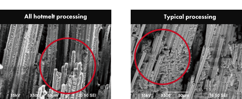 Vertical section comparison (x500)